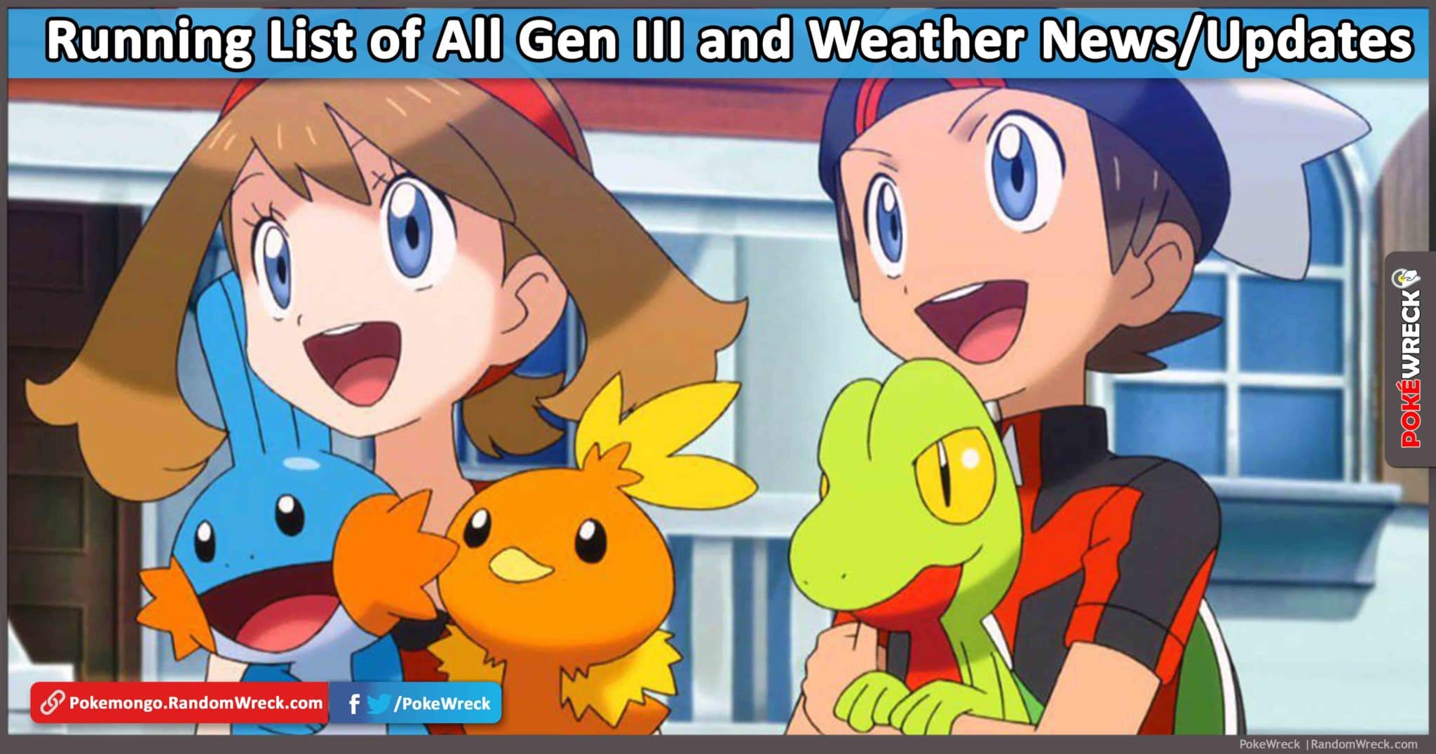 Generation 3 Weather Wrap Up
