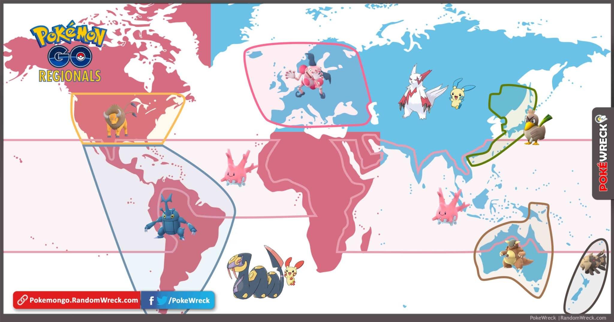 Pokemon Go Regional Map